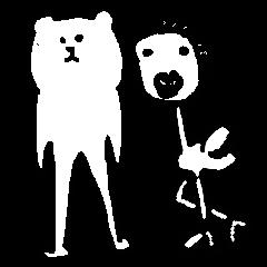うざい熊と鳥
